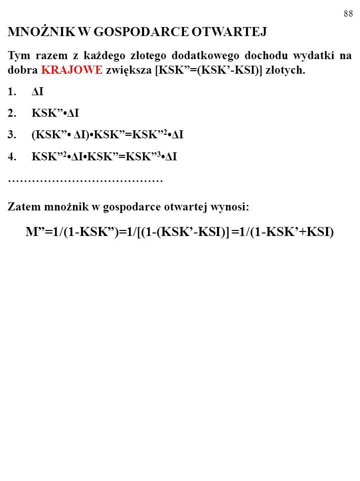M =1/(1-KSK )=1/[(1-(KSK'-KSI)] =1/(1-KSK'+KSI)